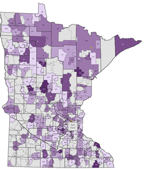 Map Of Vacek Votes