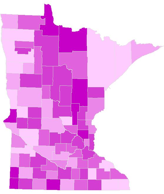 Minnesota Secretary Of State - 2016 Election Statistics Maps